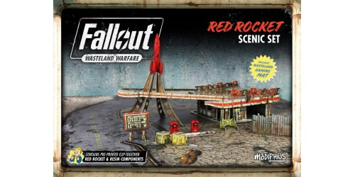 FALLOUT WASTELAND WARFARE: RED ROCKET SCENIC SET