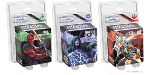 Imperial Assault - Trio new characters Palpatine, Maul, Ahsoka