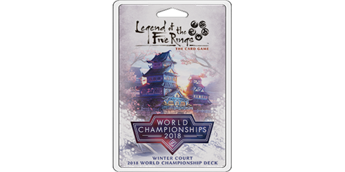 Legend of the Five Rings LCG: Winter Court 2018 World Championship Deck