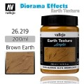 VALLEJO: DIORAMA EARTH TEXTURES BROWN EARTH 200ML